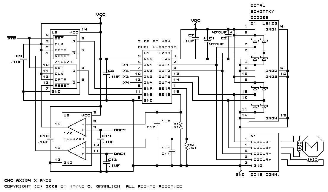 cnc stepper motor wiring diagram